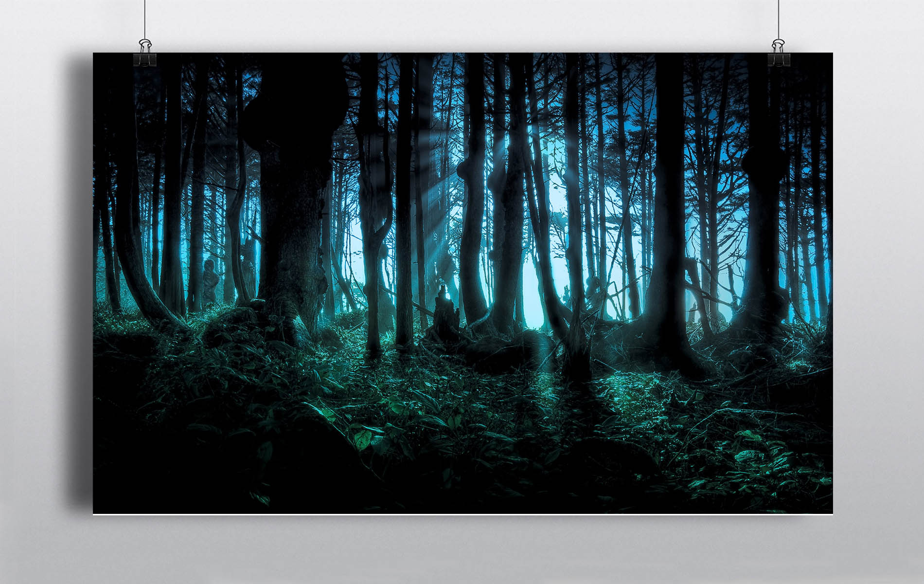 Haunted Forest Halloween Backdrop
