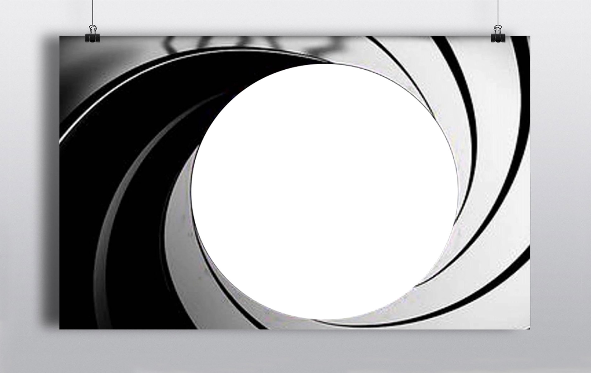 007 Gun Barrel Backdrop