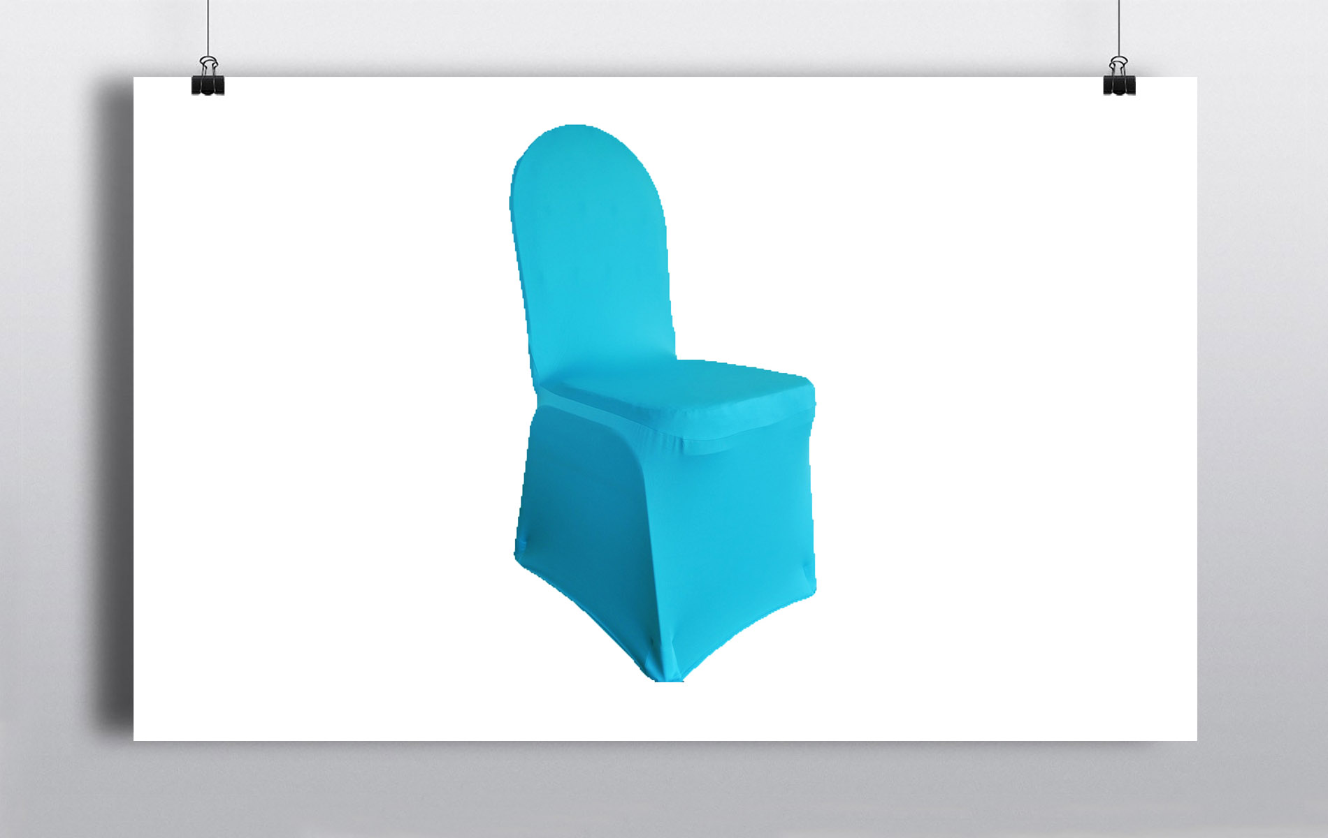 Spandex Chair Covers Turquoise